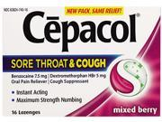 Cepacol Mix Bry Max Numbsore Thrt/Cough  16Ct 24
