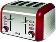 1600-Watt 4-Slice Red/Stainless Steel Toaster