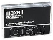 Maxell Standard Dictation/Audio Cassette, Normal Bias, 60 Min. (30 x 2)