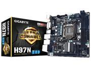Gigabyte Ultra Durable GA-H97N Desktop Motherboard - Intel H97 Express Chipset - Socket H3 LGA-1150