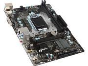 MSI H110M PRO-D LGA 1151 Intel H110 SATA 6Gb/s USB 3.1 Micro ATX Intel Motherboard