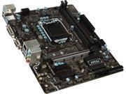 MSI B250M PRO-VD LGA 1151 Intel B250 SATA 6Gb/s USB 3.1 Micro ATX Motherboards - Intel