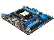 ASUS  F1A55-M LE-R  FM1  AMD A55 (Hudson D2)  Micro ATX  AMD Motherboard with UEFI BIOS Number of Memory Slots: 2×240pin Memory Standard: DDR3 2250(O.C.) / 1866 / 1600 / 1333 / 1066 PCI Express 2.0 x16: 2 (x16, x4) Onboard Video Chipset: None Audio Chipset: Realtek ALC887 Audio Channels: 8 Channels Max LAN Speed: 10/100/1000Mbps Maximum Memory Supported: 32GB