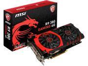 MSI Radeon R9 380 R9 380 GAMING 4G LE 4GB 256-Bit GDDR5 HDCP Ready CrossFireX Support ATX Video Card
