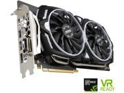 "MSI GeForce GTX 1060 DirectX 12 GTX 1060 ARMOR 6G OC 6GB 192-Bit GDDR5 PCI Express 3.0 x16 HDCP Ready ATX Video Card Core Clock: 1544 MHz Max Resolution: 7680 x 4320 DisplayPort: 3 x DisplayPort 1.4 DVI: 1 x DL-DVI-D HDMI: 1 x HDMI 2.0 Card Dimensions (L x H): 10.98"" x 5.51"" Slot Width: Dual Slot Chipset Manufacturer: NVIDIA"