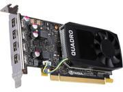 PNY Quadro P1000 VCQP1000 PB 4GB 128 bit GDDR5 PCI Express 3.0 x16 Low Profile Video Cards Workstation