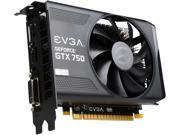 EVGA GeForce GTX 750 Superclocked DirectX 11.2 01G-P4-2753-RX 1GB 128-Bit GDDR5 PCI Express 3.0 Video Card