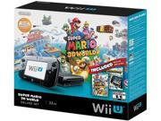 Nintendo Wii U Deluxe Set Super Mario 3D World and Nintendo Land Bundle 32 GB Black