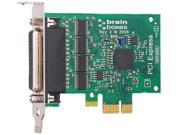 Brainboxes 4 Port RS232 Low Profile PCI Express Serial Card with Mega-Baud data rate Model PX-260