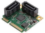 SYBA SI-MPE40095 Low Profile Ready SATA Mini PCI-Express Half Size 2 Port SATA III RAID Controller