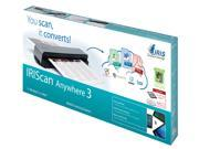 I.R.I.S IRIScan Up to 600 dpi USB Anywhere 3 (457485) Mobile Scanner