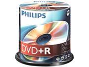 PHILIPS 4.7GB 16X DVD+R Logo 100 Packs Spindle Disc Model DR4S6B00F/17