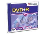 Verbatim 4.7GB 16X DVD+R Single Media Model 94916