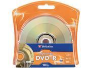 Verbatim 4.7GB 16X DVD-R 10 Packs Disc Model 96938