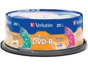 Verbatim 4.7GB 16X DVD-R 20 Packs Disc Model 97503