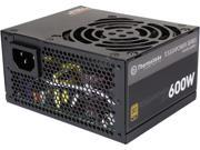 Thermaltake Toughpower SFX/ATX 600W SLI/CrossFire Ready Continuous Power 12V 3.3/ATX 12V 2.4 80 PLUS GOLD Certified Fully Modular Power Supply Skylake C6/C7 Rea