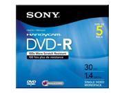 SONY 1.4GB DVD-R 5 Packs Media Model 5DMR30R1H