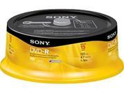 Sony DVD Recordable Media - DVD-R - 16x - 4.70 GB - 15 Pack Spindle