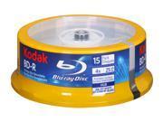 Kodak 25GB 4X BD-R Inkjet Printable 15 Packs Disc Model 52115