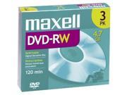 maxell 4.7GB 2X DVD-RW 3 Packs Disc Model 635123