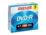 maxell 4.7GB 16X DVD-R 5 Packs Disc Model 638002