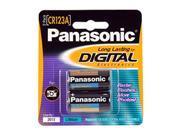 Panasonic CR-123APA/2B 2-pack Photo Lithium Cylinder  Batteries
