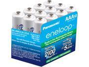 Panasonic BK-4MCCA12SA 12-pack AAA eneloop Rechargeable Batteries