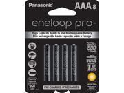 Panasonic BK-4HCCA8BA 8-pack AAA eneloop pro Rechargeable Batteries