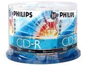 PHILIPS 700MB 52X CD-R 50 Packs Disc Model CDR80D52N/600