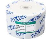 PlexDisc 4.7GB 16X DVD-R White Inkjet Hub Printable 50 Packs Disc Model 632-210