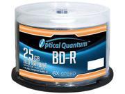Optical Quantum 25GB 6X BD-R White Inkjet Printable 50 Packs Blu-ray Disc Model OQBDR06WIP-H-50