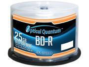 Optical Quantum 25GB 4X BD-R White Inkjet Printable 50 Packs Blu-ray Disc Model OQBDR04WIP-H-50