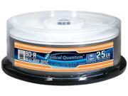 Optical Quantum 25GB 6X BD-R Gloss White Inkjet Printable 25 Packs Blu-ray Disc Model OQBDR06GWIP-H-25