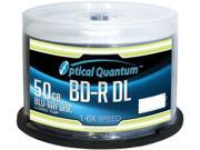 Optical Quantum 50GB 6X BD-R DL 50 Packs Blu-ray Double Layer Logo Top Disc Model OQBDRDL06LT-50