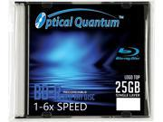 Vinpower Optical Quantum Blu-ray Disc - 25 GB, 6X, 1 Pack with Logo Top