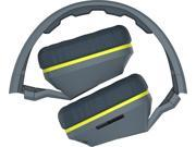 Skullcandy Crusher Gray/Hot Lime Over-Ear Headphones with Built-in Amplifier & Mic (S6SCGY-134)