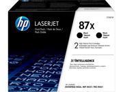 HP 87X High Yield LaserJet Toner Cartridge - Dual