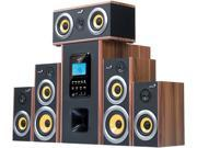 Genius SW-HF5.1 5200 Six-Piece Wooden Home Theater Speaker with MP3 Decoder