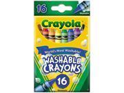 Crayola  Washable Crayons, Regular, 8 Colors, 16/Box 9SIA0TR2EU5111