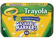 CrayolaWashable Markers, Fine Point, Eight Assorted Colors, 48/Set