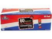 Elmers E501 Washable All Purpose School Glue Sticks Clear 60 Box