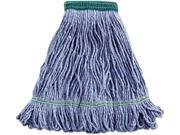 Unisan UNS 502BL Medium Cotton / Synthetic Super Loop Mop Head- Blue - Case of 12