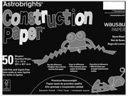 Astrobrights Construction Paper, 72-Lb., 12 X 18, Raven Black, 50 Shee