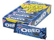 Oreo Cookies, Chocolate W/Cream Center, 6 Cookie Pack, 12 Packs/Box