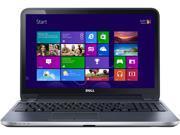 Dell Inspiron 15R-5537 I15RMT-3904SLV Notebook PC - Intel Core i3-4010U 1.7 GHz Dual-Core Processor - 6 GB DDR3 SDRAM - 500 GB Hard Drive - 15.6-inch Touchscreen Display - Windows 8.1 64-bit ...