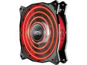 LEPA CHOPPER ADVANCE LPCPA12P-R Cooling Fan - 120 mm - 1500 rpm70.4 CFM - 20 dB(A) Noise - Barometric Oilless Bearing - Red LED