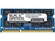 Black Diamond Memory 8GB 204 Pin DDR3 SO DIMM ECC Unbuffered DDR3 1600 PC3 12800 Server Memory Model BD8G1600MTO22