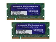 Kingston HyperX 2GB (2 x 1GB) 200-Pin DDR2 SO-DIMM DDR2 667 (PC2 5300) Dual Channel Kit Laptop Memory