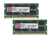 Kingston 4GB 2 x 2GB 200 Pin DDR2 SO DIMM DDR2 800 PC2 6400 Dual Channel Kit Memory For Apple Model KTA MB800K2 4GR