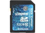 Kingston 32GB Secure Digital High-Capacity (SDHC) Flash Card Model SD10G2/32GB